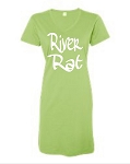 River Rat.  V-Neck Swim Suit Cover Up