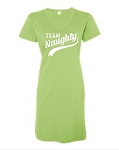 Team Naughty.  V-Neck Swim Suit Cover Up