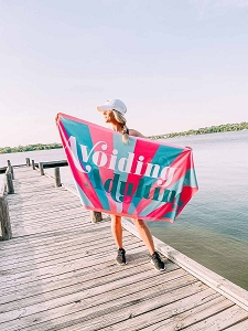 Avoiding Adulting.  Beach Towel
