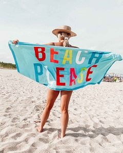 Beach Please.   Beach Towel