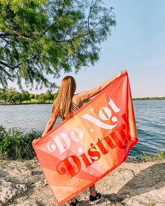 Do Not Disturb.  Beach Towel