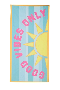 Good Vibes Only.  Beach Towel