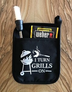 I Turn Grills On.  Pot Holder