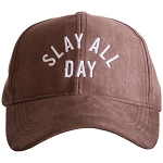 Slay All Day.  Ultra Suede Baseball Hat