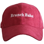Brunch Babe.  Ultra Suede Baseball Hat