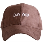 Day Off.  Ultra Suede Baseball Hat