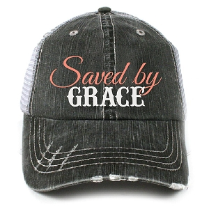 Saved By Grace.  Women's Trucker Hat
