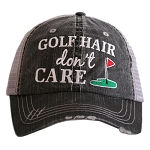 Golf Hair Don't Care.  Women's Trucker Hat