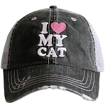 I Love My Cat.  Women's Trucker Hat
