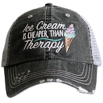 Ice Cream Is Cheaper Than Therapy.  Women's Trucker Hat