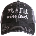 Dog Mother.  Wine Lover.  Women's Trucker Hat