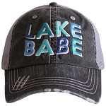 Lake Babe.  Women's Trucker Hat