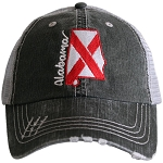 Alabama State Flag.  Women's Trucker Hat