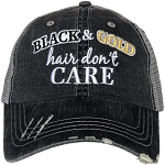 Black And Gold Hair Don't Care.  Women's Trucker Hat