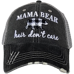 Mama Bear Hair Don't Care.  Women's Trucker Hat