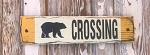 Bear Crossing.  Rustic Wood Sign
