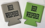 Beer Whisperer.  Collapsible Can Cooler / Coozie