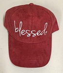 Blessed.  Ultra Suede Baseball Hat