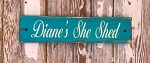 Personalized She Shed Rustic Wood Sign
