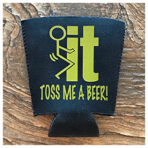 Fuck It!  Toss Me A Beer!  Pint Glass Cooler
