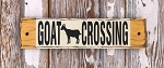 Goat Crossing.  Rustic Wood Sign