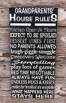 Grandparents House Rules.  Wood Sign
