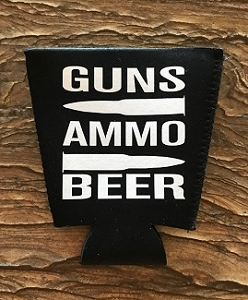 Guns.  Ammo.  Beer.  Pint Glass Cooler
