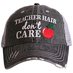 Teacher Hair Don't Care.  Women's Trucker Hat
