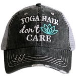 Yoga Hair Don't Care.  Women's Trucker Hat