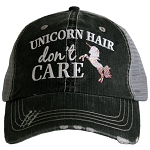 Unicorn Hair Don't Care.  Women's Trucker Hat