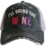 I'll Bring The Wine.  Women's Trucker Hat