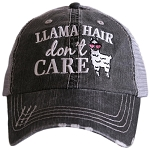Llama Hair Don't Care.  Women's Trucker Hat