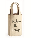 Lake It Easy.  Double Bottle Wine Tote