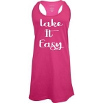 Lake It Easy.  Racer Back Swim Suit Cover Up