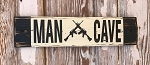 Man Cave.  Rustic Wood Sign