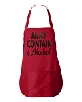 May Contain Alcohol.  Apron