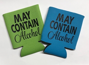 May Contain Alcohol.  Collapsible Can Cooler / Coozie