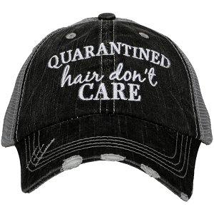 Quarantined Hair Don't Care.  Women's Trucker Hat
