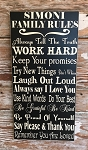 Personalized Family Rules Sign With Family Name.  Wood Sign