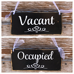 Occupied / Vacant Double Sided Bathroom Sign  12