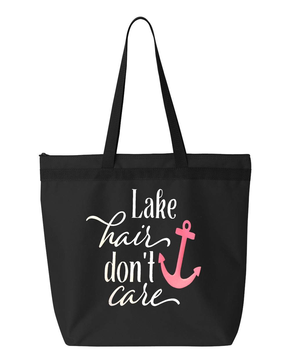Lake Hair, Don't Care.  Zipper Tote Bag