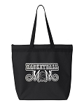 Basketball Mom.  Zipper Tote Bag