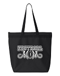 Football Mom.  Zipper Tote Bag