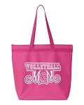 Volleyball Mom.  Zipper Tote Bag