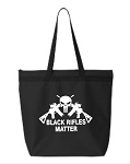Black Rifles Matter.  Zipper Tote Bag