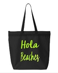 Hola Beaches.  Zipper Tote Bag