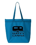 Happy Camper.  Zipper Tote Bag
