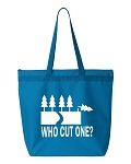 Who Cut One?  Zipper Tote Bag