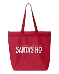 Santa's Ho.  Zipper Tote Bag