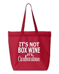 It's Not Box Wine.  It's Cardboardeaux.  Zipper Tote Bag